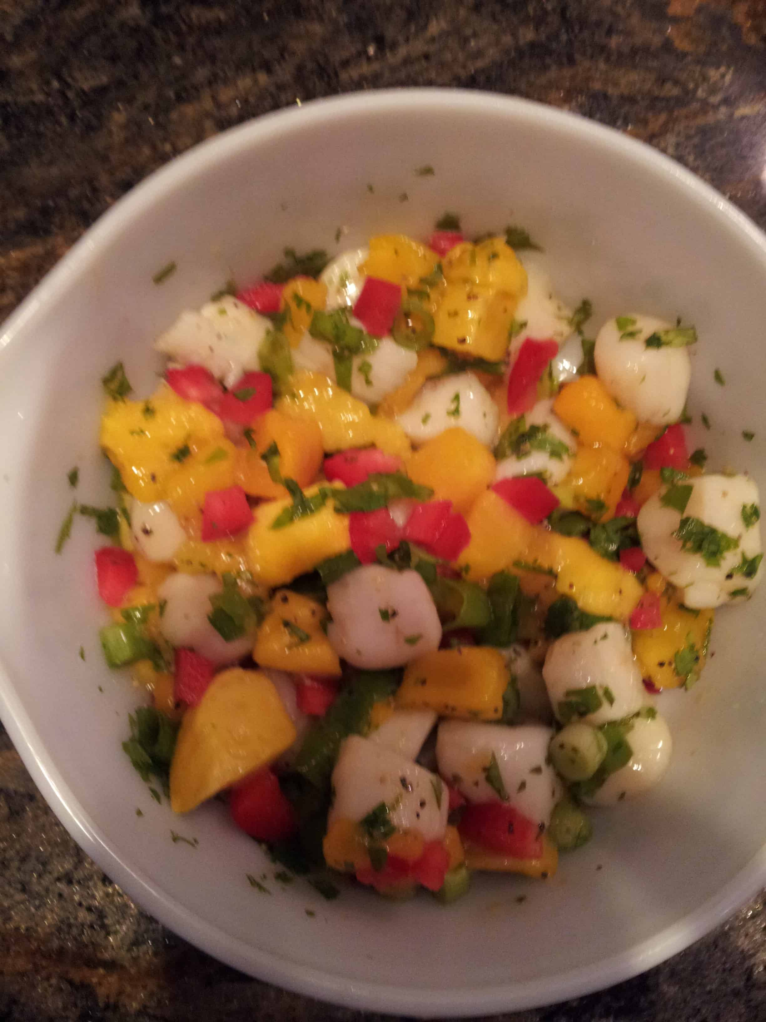 Scallop Ceviche with Mango and Orange | The Scallop Hunter