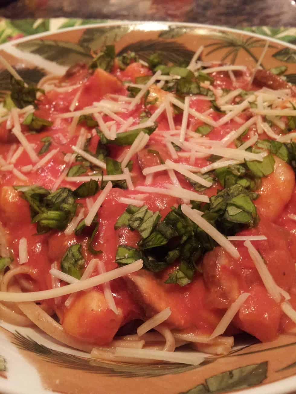 Bay Scallops with Spaghetti and Vodka Sauce   The Scallop Hunter