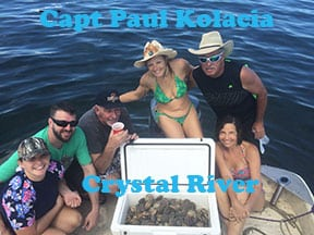 Crystal River scalloing with Capt Paul
