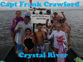 Crystal River scalloing with Capt Frank Crawford