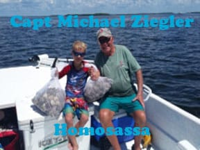 Homasassa scalloing with captain Michael Ziegler